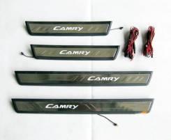 Накладка на порог. Toyota Camry, ASV50, AVV50, GSV50