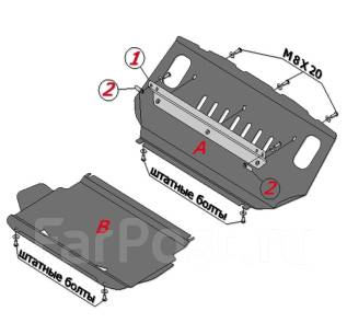 Защита двигателя железная. Mitsubishi Pajero, V83W, V93W, V88W, V97W, V87W, V98W
