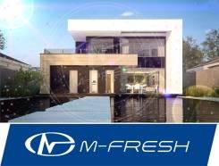 M-fresh Plaza! (Готовый проект современного дома с плоской кровлей! ). 300-400 кв. м., 2 этажа, 5 комнат, кирпич