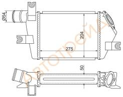 Радиатор интеркулера MITSUBISHI L200 05-/PAJERO/MONTERO SPORT 08- SAT ST-MN135001