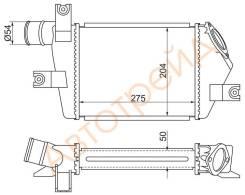 ST-MN135001 SAT Радиатор интеркулера MITSUBISHI L200 05-/PAJERO/MONTERO SPORT 08-
