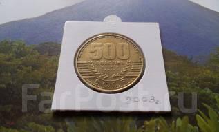 Коста-Рика. Огромные 500 колонов 2003 года.