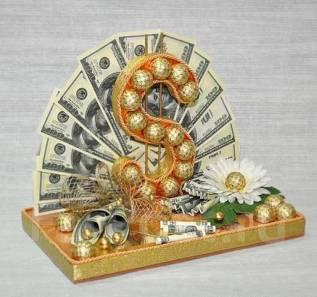 Доллар из конфет. Принимаются заказы на 23 февраля. Под заказ!