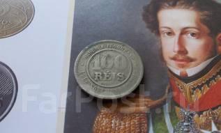 Старая Бразилия! 100 рейс 1896 года. Большая красивая монета!