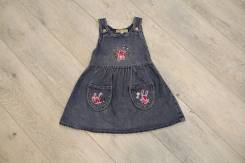 Платья джинсовые. Рост: 86-98, 98-104, 104-110 см