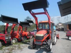 Kubota. Трактор с кабиной, ГУР, реверс, погрузчик, фреза