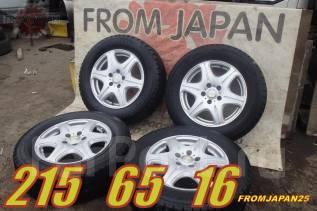 215/65R16 Японские зимние Bridgestone на литье. Rush, Bego, Dualis, Xtrail. 6.5x16 5x114.30 ET40 ЦО 73,0мм.