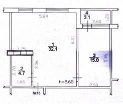 2-комнатная, Аллея Труда 30. центр, частное лицо, 52 кв.м.