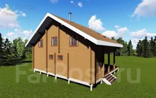 Индивидуальный проект дома. 100-200 кв. м., 2 этажа, каркас