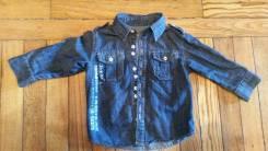 Рубашки джинсовые. Рост: 80-86, 86-98 см