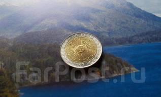 Аргентина. 1 песо 2007 года. Биметалл.