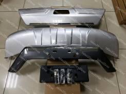 Накладка на бампер. Nissan X-Trail, NHT32, HT32, T32, NT32, HNT32