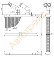 Радиатор отопителя салона HINO PROFIA FS#\FR#\FN#\GN#\GH#\FH# 98-03 SAT ST-HI98-395-0