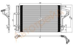 Радиатор кондиционера HYUNDAI I30 12-/ELANTRA 10-/KIA CEED 12-/FORTE 12- SAT ST-HN29-394-0