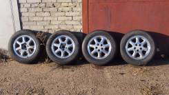 Диски Toyota R14 6J 5x100 с шинами Bridgestone 185/70R14. 6.0x14 5x100.00 ЦО 54,0мм.