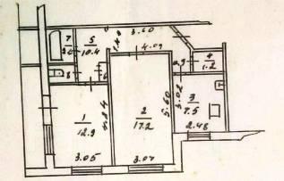 2-комнатная, с. бычиха новая. Индустриальный, агентство, 53 кв.м.
