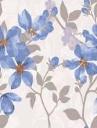 Кафель настенный Натали Флауэр голубой /1034-0173/ 250*330 мм