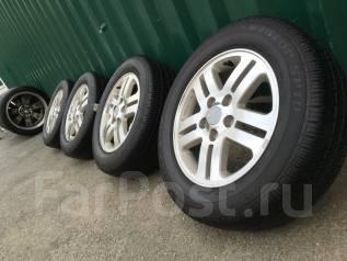 Комплект недорогих колес R15 5*114.3 на жирном лете Dunlop 195/65/15. 5.5x15 5x114.30 ET45 ЦО 65,0мм.