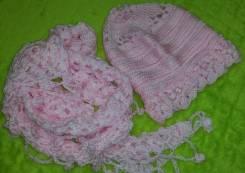 Шапка и шарф. 54, 55, 56, 57, 55-59