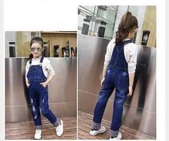 Комбинезоны джинсовые. Рост: 128-134 см