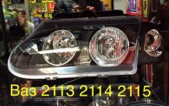 Фары ВАЗ 2113, 2114, 2115 поворотник, чёрный корпус H7/H1. Лада 2113, 2113 Лада 2115, 2115 Лада 2114, 2114