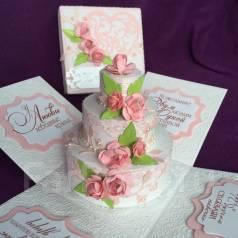Открытка-коробочка ручной работы - С Днём Свадьбы!