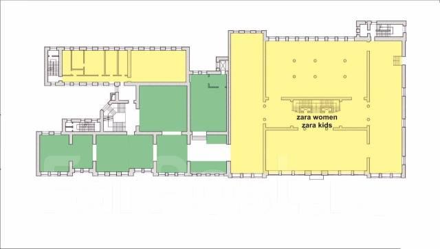 Сдаются помещения в ТЦ Большой ГУМ. 3 000 кв.м., улица Светланская 33, р-н Центр. План помещения