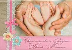 Обложка на свидетельство о рождении ребёнка.