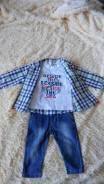 Рубашки джинсовые. Рост: 60-68, 68-74 см