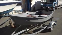 Деревянная весельная лодка покрытая стеклопластиком 2.80м. длина 2,80м., двигатель подвесной