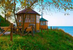 Гриль-домики, отдых у моря! В любую погоду! Кунгасный парк.