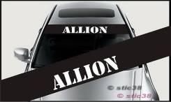 Наклейка. Toyota Allion