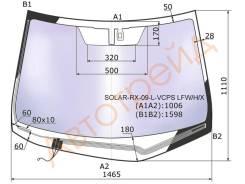 Стекло лобовое с обогревом щеток в клей LEXUS RX350/450H 09- XYG SOLARRX09LVCPSLFWHX