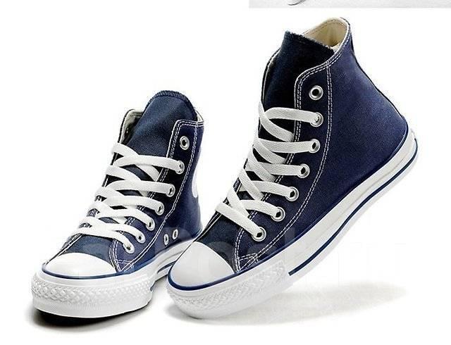 Кеды Converse классика, высокие синий цвет, тренд - Обувь во ... 42be605d7db