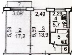 2-комн (Первая речка) на 2 или 3-комн на Эгершельде. От частного лица (собственник)