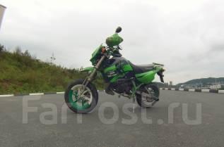 Kawasaki KSR80. 80 куб. см., исправен, без птс, с пробегом