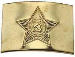 Бляха солдатская. Латунь. СССР. Обмен на военные приборы. Оригинал