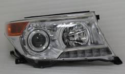 Фары светодиодные Toyota Land Cruiser 200 черные+белые