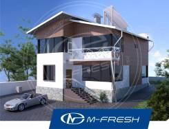 M-fresh Golden hit (Проект двухэтажного дома на две семьи). 200-300 кв. м., 2 этажа, 6 комнат, бетон