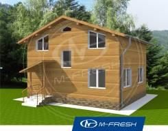 M-fresh Mexico (Проект дома с маленькой площадью). 100-200 кв. м., 2 этажа, 7 комнат, бетон