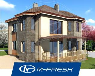 M-fresh maЭstro-зеркальный (Проект дома с 5 комнатами! Вам нравится? ). 200-300 кв. м., 2 этажа, 5 комнат, бетон