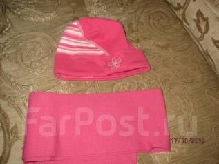 Шапка и шарф. Рост: 110-116, 116-122, 122-128 см