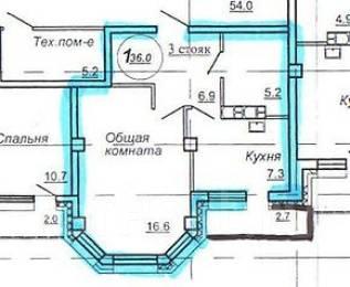 1-комнатная, Салтыкова Щедрина. Кировский, агентство, 36 кв.м.