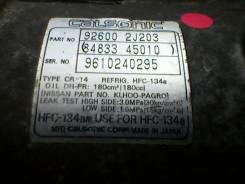 Компрессор кондиционера. Nissan Bluebird, ENU14 Двигатель SR18DE