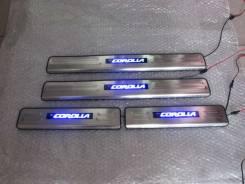 Накладка на порог. Toyota Corolla, NDE160, NRE180, NRE160, ZRE172, ZRE161, ZRE182, ZRE181 Двигатели: 1NRFE, 2ZRFE, 1ZRFE, 1ZRFAE, 2ZRFAE, 1NDTV