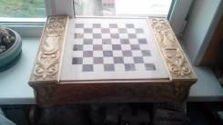 Шахматы из Оникса с подставкой ручной работы