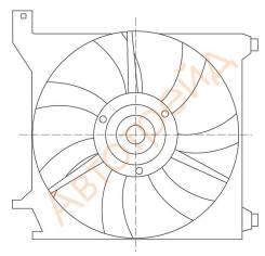 Диффузор радиатора в сборе KIA CERATO/FORTE 1.6/2.0 04-09 SAT ST-KA43-201-0