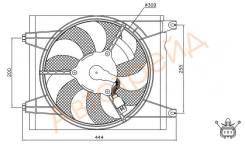 Диффузор кондиционера KIA CERATO/FORTE 1.6/2.0 04-09 SAT ST-KA43-203-0