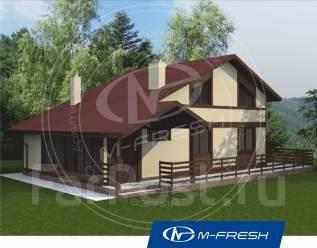 M-fresh Eco time (Прекрасный проект дома для эко жизни на природе! ). 100-200 кв. м., 1 этаж, 5 комнат, дерево