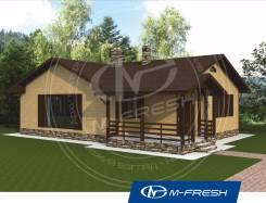 M-fresh Cherry (Проект 1-этажного дома с террасой). 100-200 кв. м., 1 этаж, 3 комнаты, кирпич